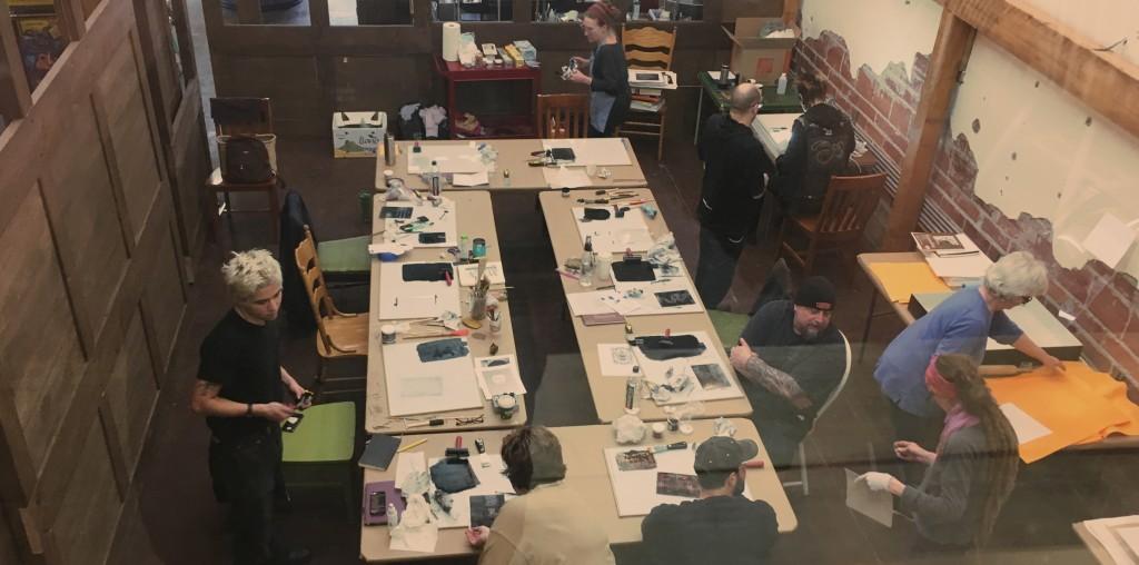Tri-dee classes make art overhead